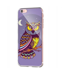 Purple Nights - iPhone 6 Carcasa Transparenta Silicon