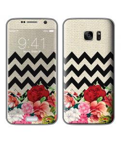 Floral Contrast - Samsung Galaxy S7 Skin