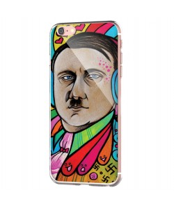 Hitler Meets Colors - iPhone 6 Carcasa Transparenta Silicon