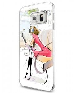 Taking a Break - Samsung Galaxy S7 Carcasa Silicon