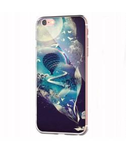 Blue Dream - iPhone 6 Carcasa Transparenta Silicon