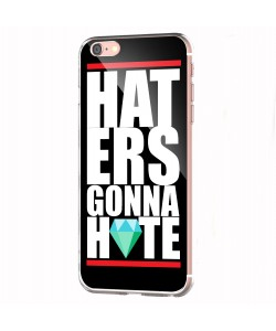 Haters Gonna Hate 2 - iPhone 6 Carcasa Transparenta Silicon