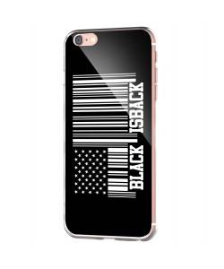 Black is Back - iPhone 6 Carcasa Transparenta Silicon