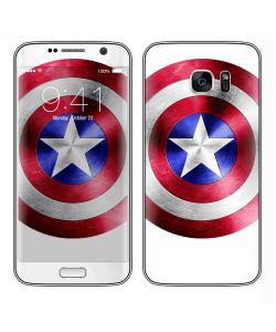 Captain America Logo - Samsung Galaxy S7 Edge Skin