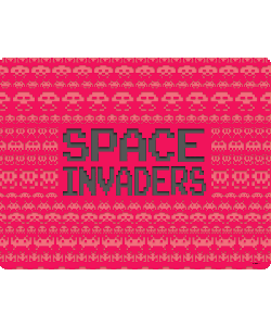 Space Invaders Red - Samsung Galaxy S4 Carcasa Transparenta Silicon