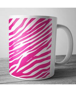 Cana personalizata - Pink Zebra