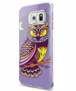 Purple Nights - Samsung Galaxy S7 Carcasa Plastic Premium