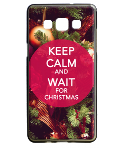 Keep Calm and Wait for Christmas - Samsung Galaxy A5 Carcasa Silicon