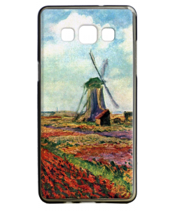Claude Monet - Fields of Tulip With The Rijnsburg Windmill - Samsung Galaxy A5 Carcasa Silicon