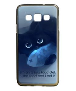 Sea Food - Samsung Galaxy A3 Carcasa Silicon Premium