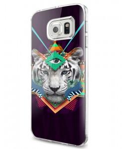 Eyes of the Tiger - Samsung Galaxy S7 Carcasa Silicon