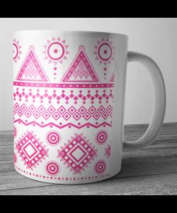 Cana personalizata - Pink Geometry