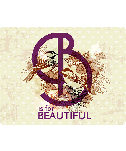 B is for Beautiful - Samsung Galaxy S4 Carcasa Transparenta Silicon