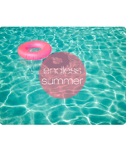 Endless Summer - Samsung Galaxy S4 Carcasa Transparenta Silicon