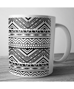 Cana personalizata - Tribal Black & White