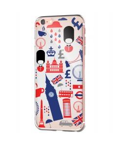 London Collage - iPhone 6 Carcasa Transparenta Silicon