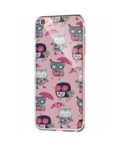Pastel Owls - iPhone 6 Carcasa Transparenta Silicon