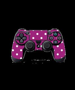 Purple White Dots - PS4 Dualshock Controller Skin