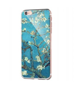 Van Gogh - Branches with Almond Blossom - iPhone 6 Carcasa Transparenta Silicon