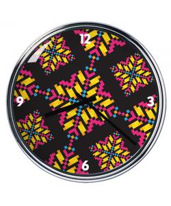 Ceas personalizat - Negru - Auriu - Roz