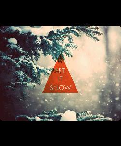 Let it Snow - Samsung Galaxy S4 Carcasa Transparenta Silicon