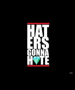 Haters Gonna Hate 2 - Samsung Galaxy S4 Carcasa Transparenta Silicon
