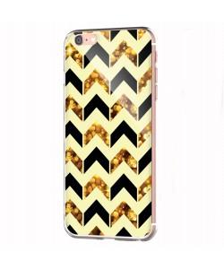 Black & Gold - iPhone 6 Carcasa Transparenta Silicon
