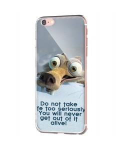 Alive - iPhone 6 Carcasa Transparenta Silicon