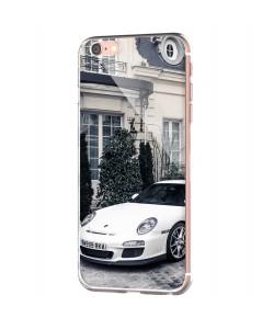Porsche - iPhone 6 Carcasa Transparenta Silicon