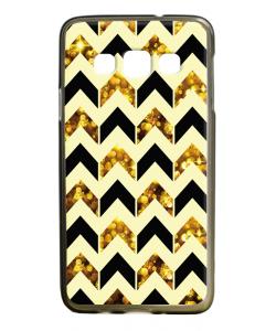Black & Gold - Samsung Galaxy A3 Carcasa Silicon Premium