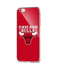 Chicago Bulls - iPhone 6 Carcasa Transparenta Silicon