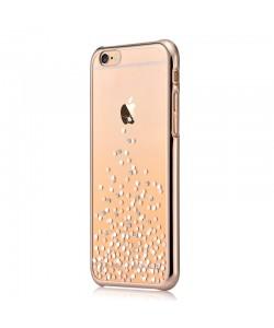 Unique Polka Champagne Gold - Comma Carcasa iPhone 6/6S (cristale si rama electroplacata)