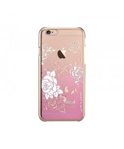 Crystal Charm Pink - Devia Carcasa iPhone 6/6S (cristale si rama electroplacata)