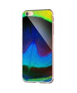 Peacock Feather - iPhone 6 Carcasa Transparenta Silicon