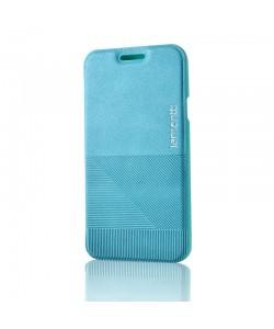Lemontti Jelly Linea - Samsung Galaxy A3 Husa Book Albastra Piele Eco