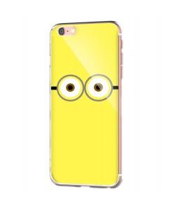 Minion Eyes - iPhone 6 Carcasa Transparenta Silicon