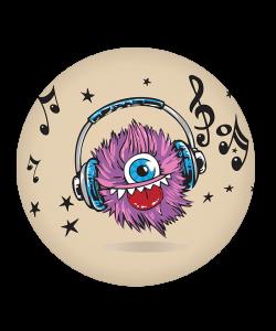 Popsocket Fluffy Headphones, Accesoriu telefon
