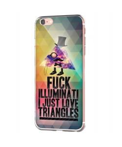 Love Triangles - iPhone 6 Carcasa Transparenta Silicon