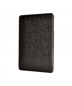 Husa Comma Charming Black (motiv floral embosat) - iPad Mini 4