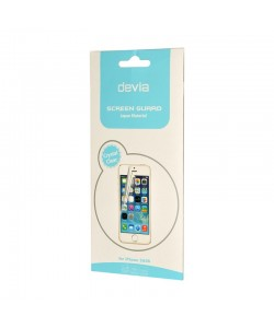 Folie Devia Original Pet Black - iPhone 5/5S/SE (1 fata clear si 1 spate opac)