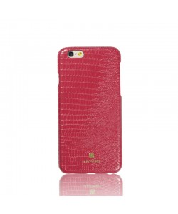 Just Must Croco Red - iPhone 6/6S Carcasa TPU + Piele Eco