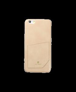 Just Must Chic Beige - iPhone 6 Plus Carcasa TPU + Piele Eco (cu buzunar)