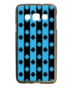 Android Stripes - Samsung Galaxy A3 Carcasa Silicon Premium