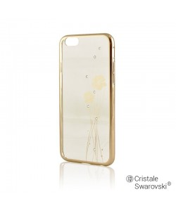Crystal Ballet Champagne Gold - Comma Carcasa iPhone 6/6S (electroplacat, protectie 360°)