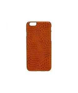 Croco Light Brown - iKins iPhone 6/6S Carcasa TPU + Piele Eco