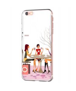 Coffee Break - iPhone 6 Carcasa Transparenta Silicon
