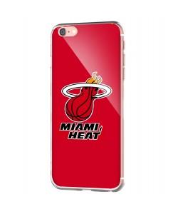 Miami Heat - iPhone 6 Carcasa Transparenta Silicon