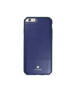 Just Must Carve I Navy - iPhone 6/6S Carcasa Piele Eco (protectie margine 360°)