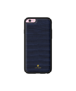 Just Must Croco Navy - Carcasa iPhone 6/6S (protectie margine 360°)