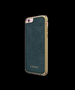 Occa Lizard Gray - Carcasa iPhone 6/6S (piele naturala, protectie margine 360°)